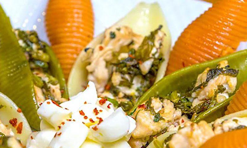 جامبو سبزیجات پرشده با مرغ و اسفناج