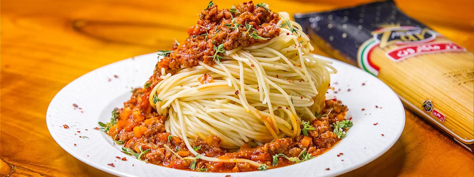 اسپاگتی با سس بلونز