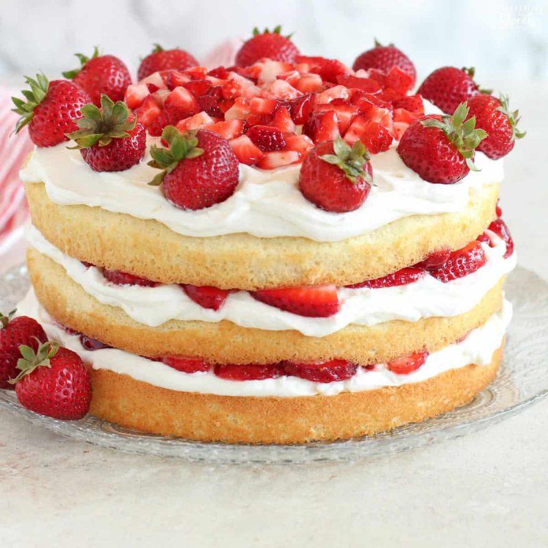 پودر کیک توت فرنگی زر ماکارون