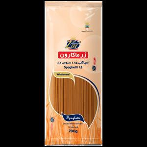 اسپاگتی قطر 1.5 سبوس دار زر ماکارون